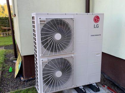 montaż pompy ciepła lg w Bielsku-Białej