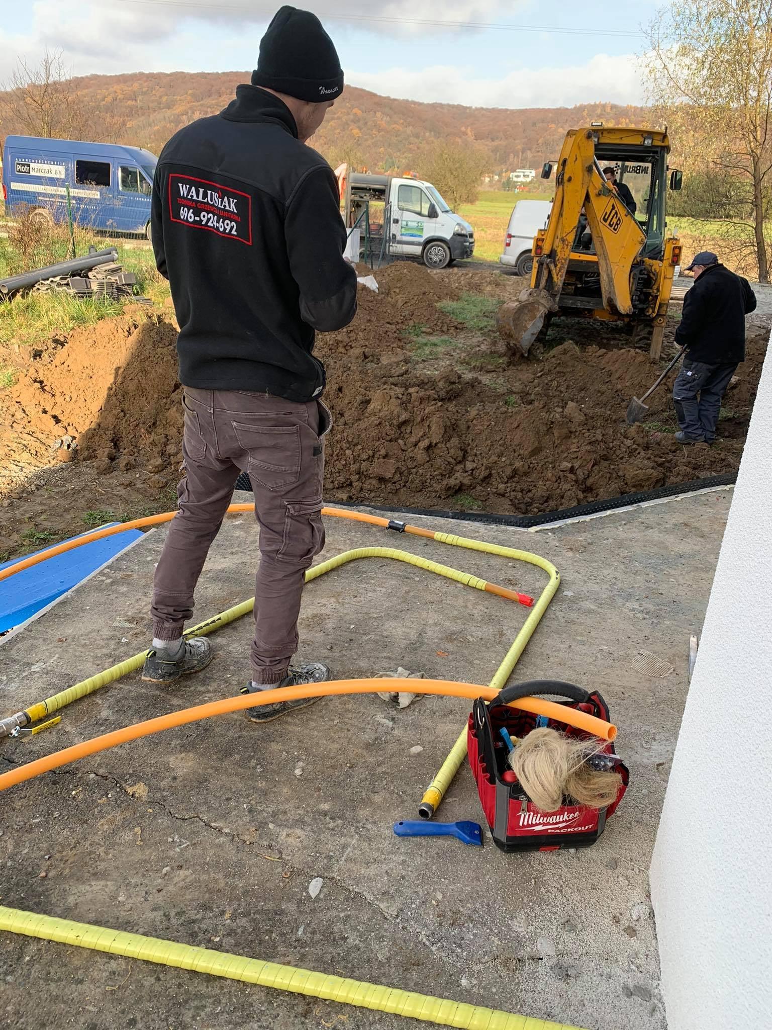 przyłącze gazu do domu w Andrychowie